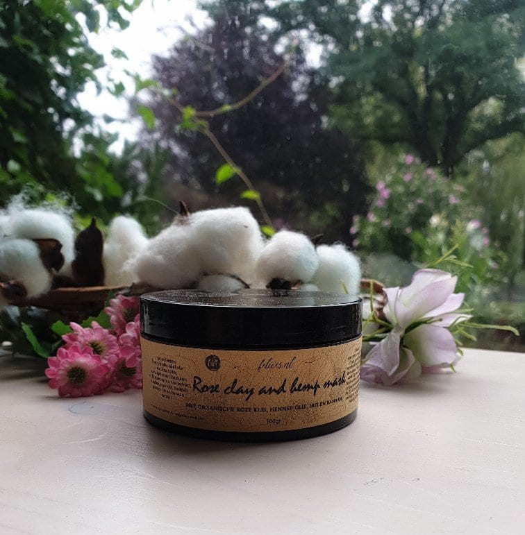 Delicate Rose clay and hemp mask 100gr